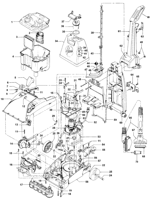 Hoover F58429RM Parts and Accessories- PartsWarehouse