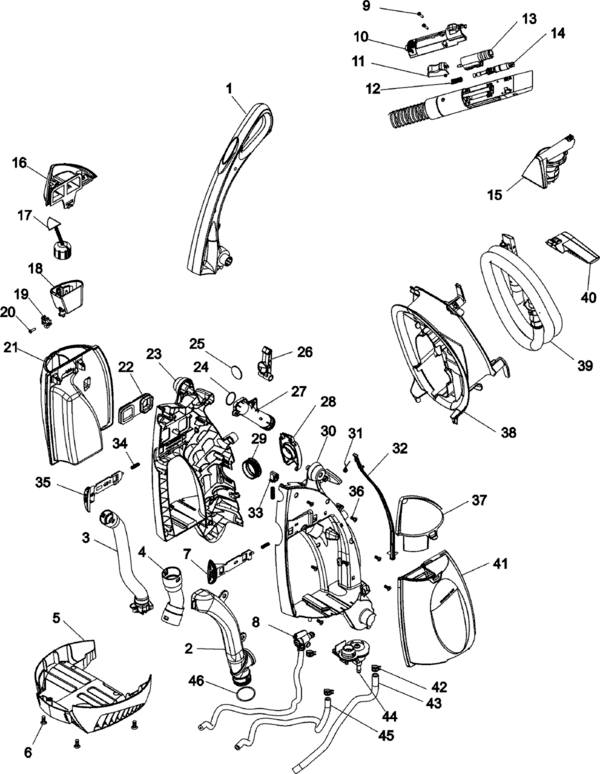 Hoover F6213 Parts and Accessories- PartsWarehouse
