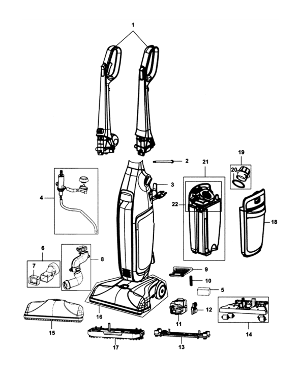 Hoover FH40161 Floormate Deluxe Parts