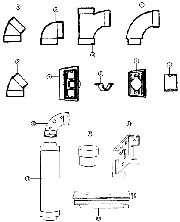 S5541- Central Vac System Vacuum Parts