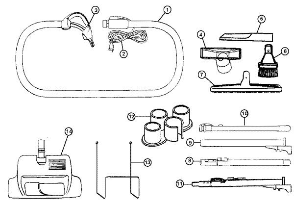 S5720- Central Vac System Vacuum Parts