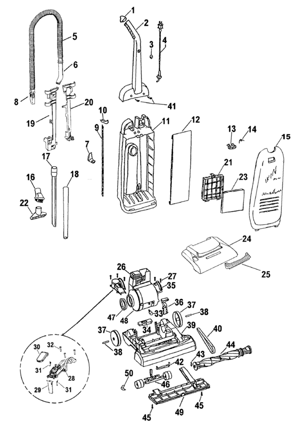 Hoover U5106 Parts and Accessories- PartsWarehouse