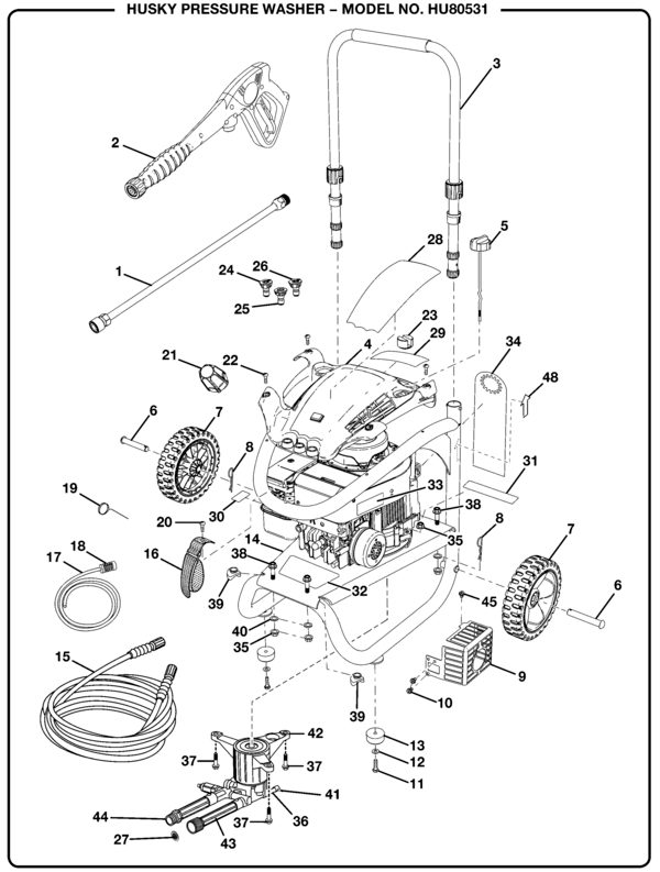Husky HU80531 Pressure Washer Parts and Accessories