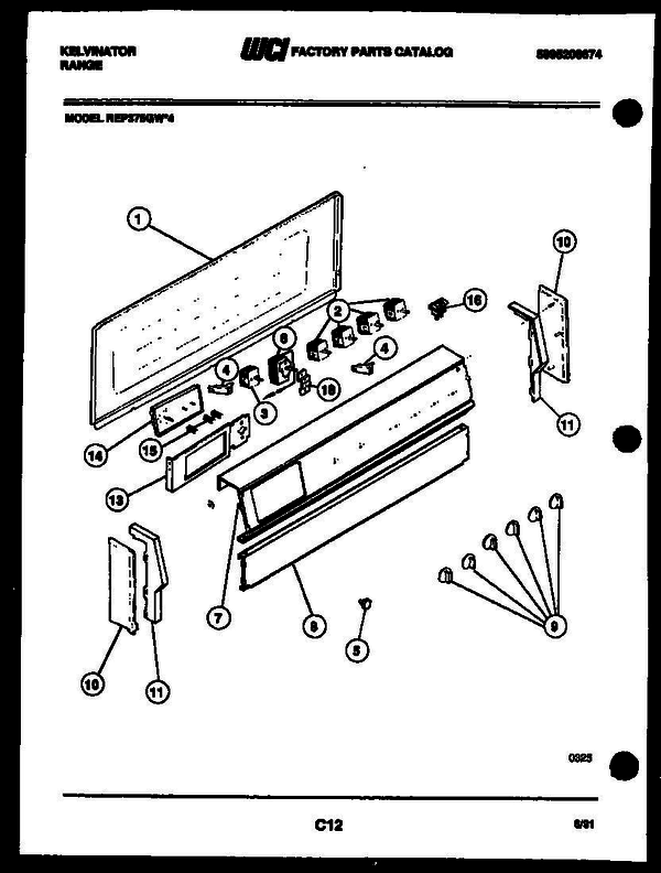 Kelvinator REP375GD4 Electric Range (5995208674) Parts and