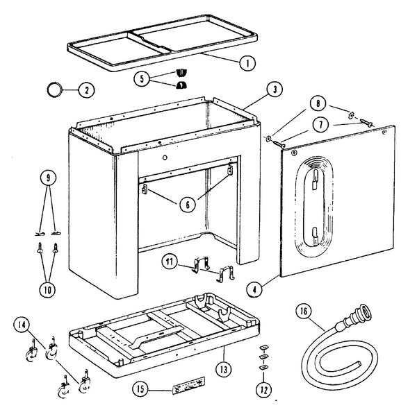 Maytag A207S Top Loading Washer Parts and Accessories at