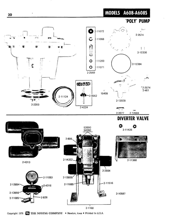 Maytag A608S Washer Parts and Accessories at PartsWarehouse