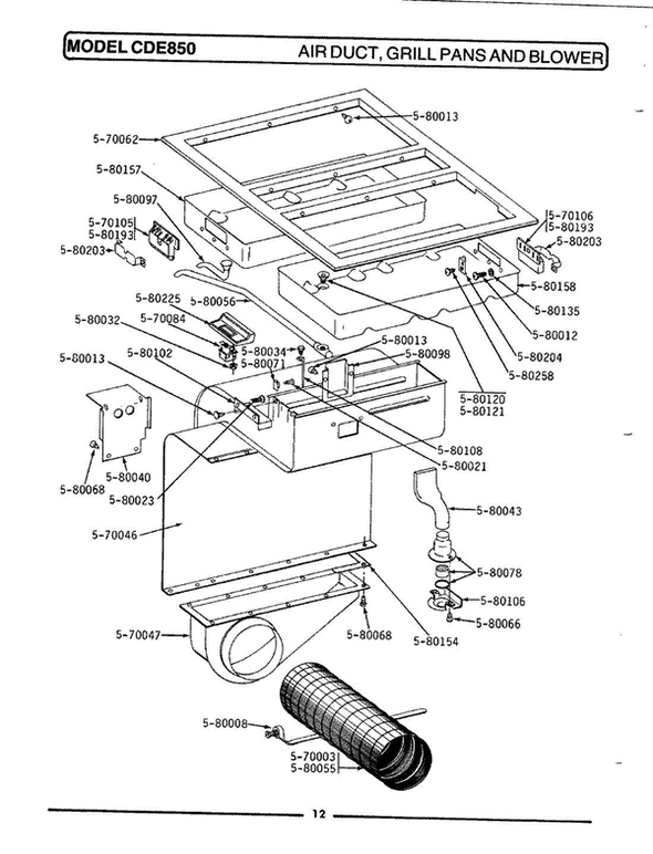 Maytag CDE850 Electric Range Parts and Accessories at