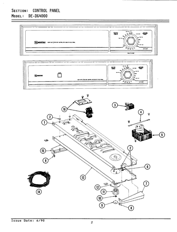 Maytag DG4000 Dryer Parts and Accessories at PartsWarehouse