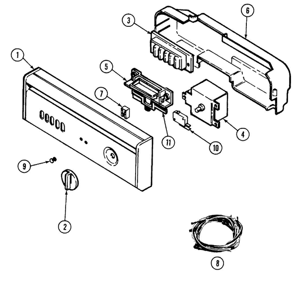 Maytag DWU7500BBX Dishwasher Parts and Accessories at