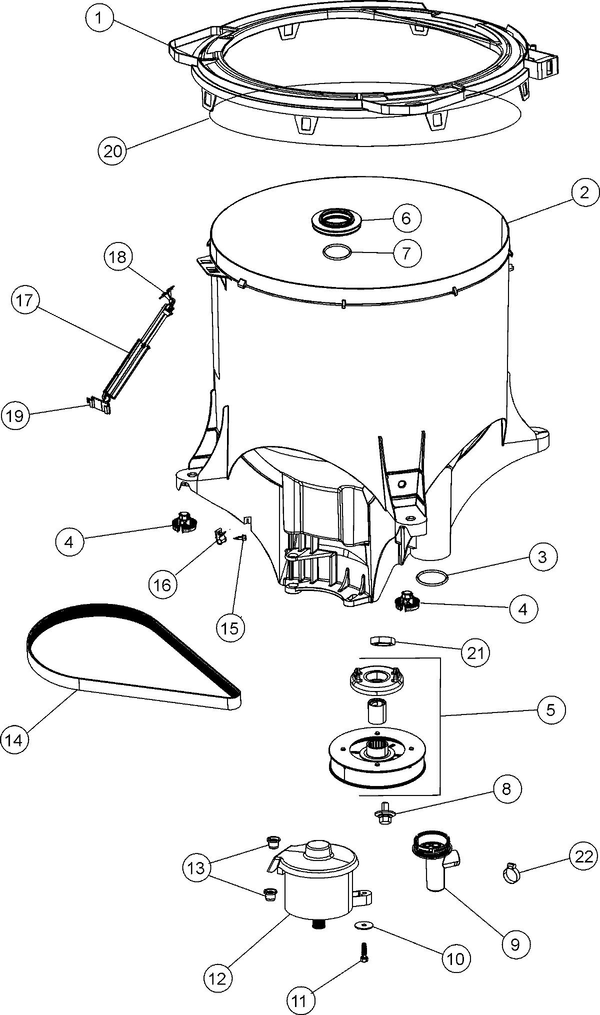 Maytag FAV6800AWW Washer Parts and Accessories at