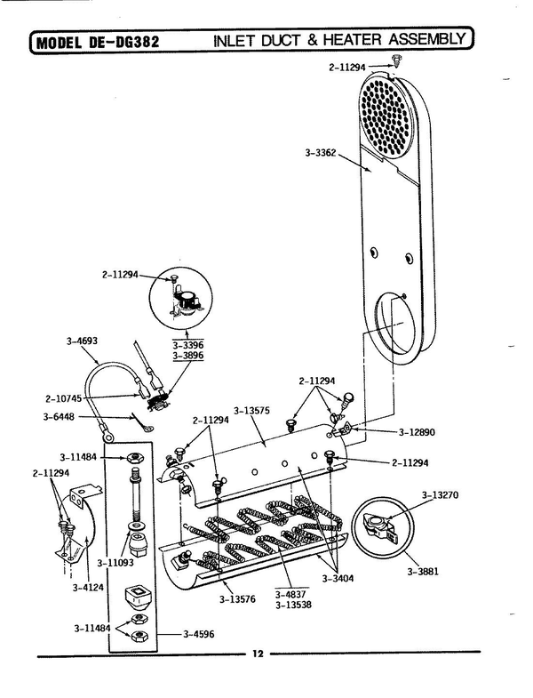 Maytag GDE382 Electric Dryer Parts and Accessories at