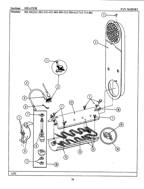 Maytag GDE882 Dryer Parts and Accessories at PartsWarehouse