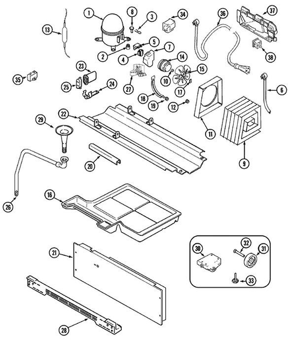 Maytag GS2728EEDB Side-by-Side Refrigerator Parts and