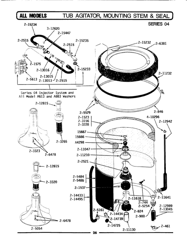 Maytag LA512 Washer Parts and Accessories at PartsWarehouse