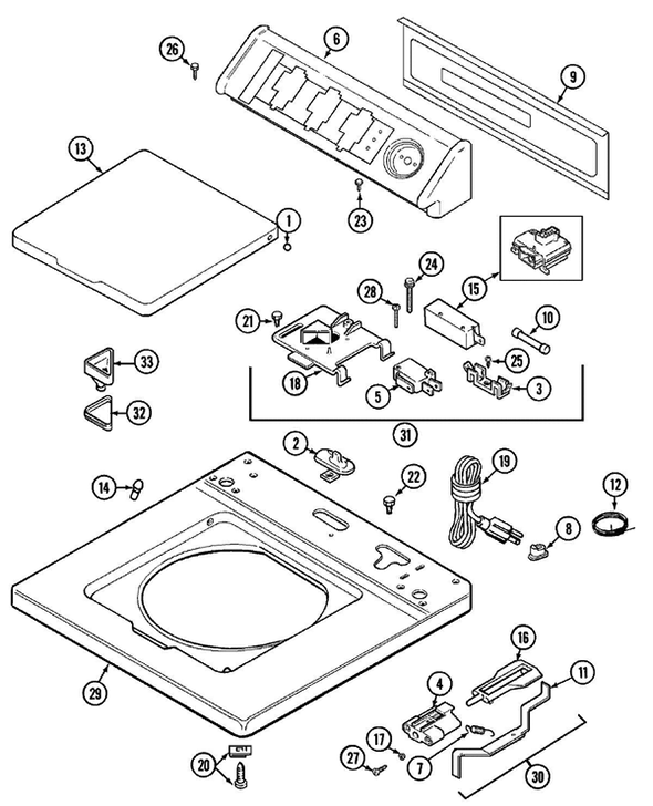 Maytag LAT9416AAE Washer Parts and Accessories at