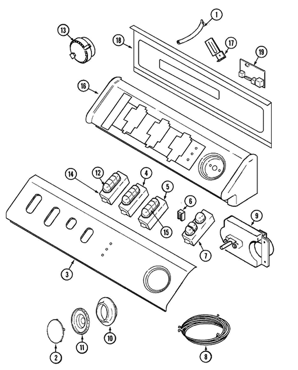 Maytag MAH4000AWW Washer Parts and Accessories at