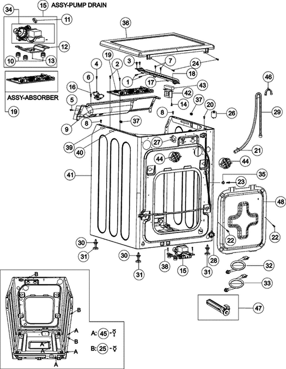 Maytag MAH8700AWW Washer Parts and Accessories at