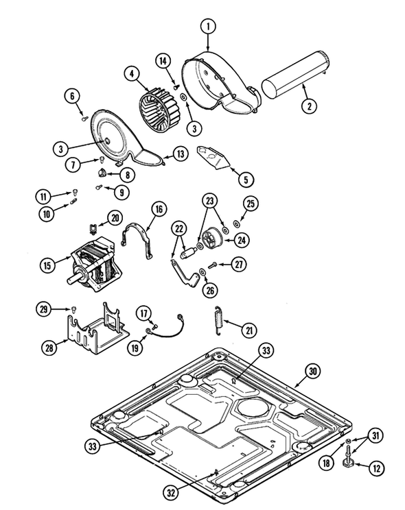Maytag MDE16CSDYW Electric Dryer Parts and Accessories at