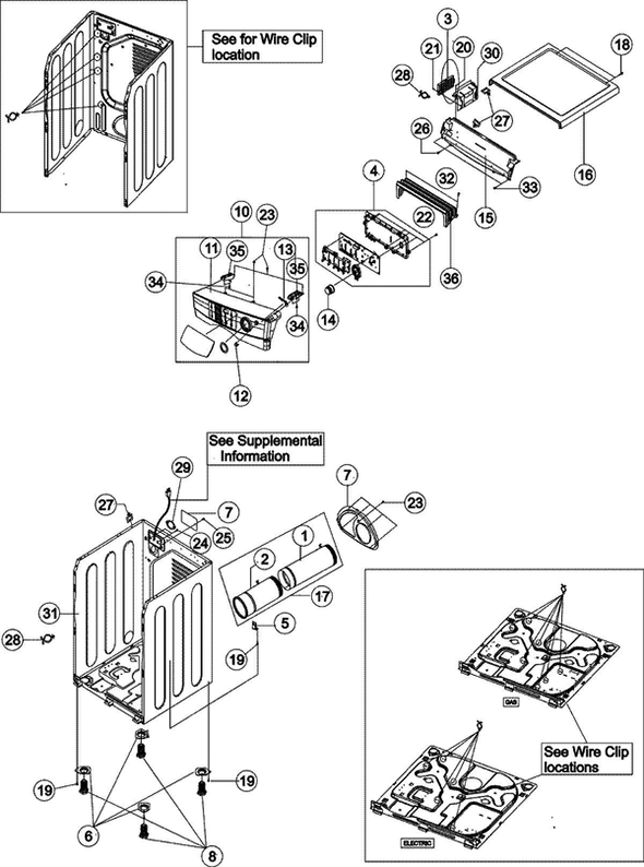Maytag MDE6700AYW Dryer Parts and Accessories at