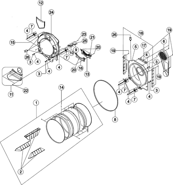 Maytag MDG6700AWW Dryer Parts and Accessories at