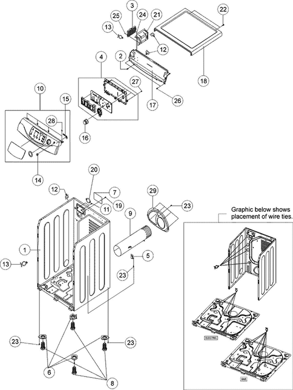 Maytag MDG9700AWW Dryer Parts and Accessories at