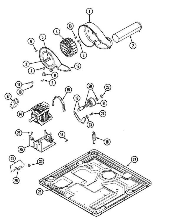 Maytag MHW2000AWW Washer/Dryer Combo Parts and Accessories