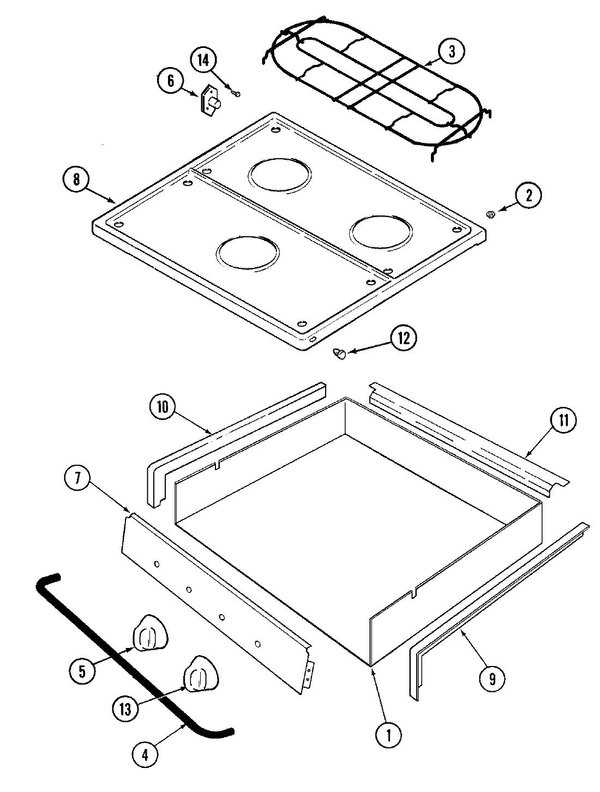 Maytag MLZ8505ADB Gas RV Cook Top Parts and Accessories at