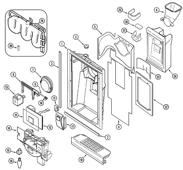 Maytag MSD2554ARW Side-by-Side Refrigerator Parts and