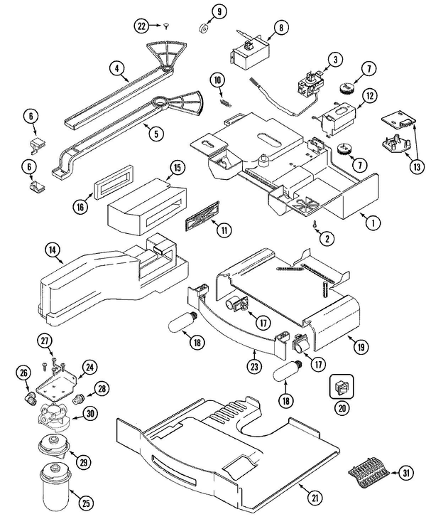 Maytag MSD2656DEB Side-by-Side Refrigerator Parts and