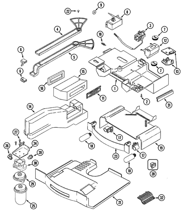 Maytag MZD2766GES Side-by-Side Refrigerator Parts and