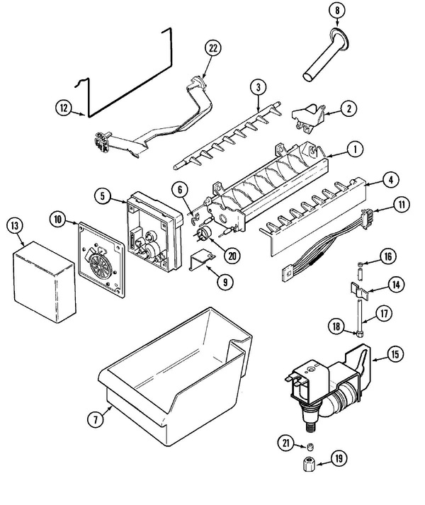Maytag PSB2151GRW Side-by-Side Refrigerator Parts and