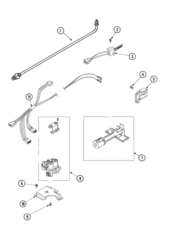 Maytag SDG3606AWW Dryer Parts and Accessories at