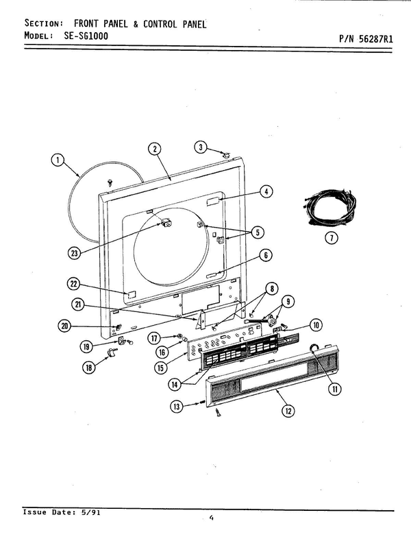 Maytag SG1000 Washer/Dryer Combo Parts and Accessories at