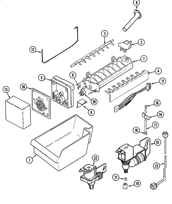 Maytag UKI1000AGX Ice Maker Parts and Accessories at