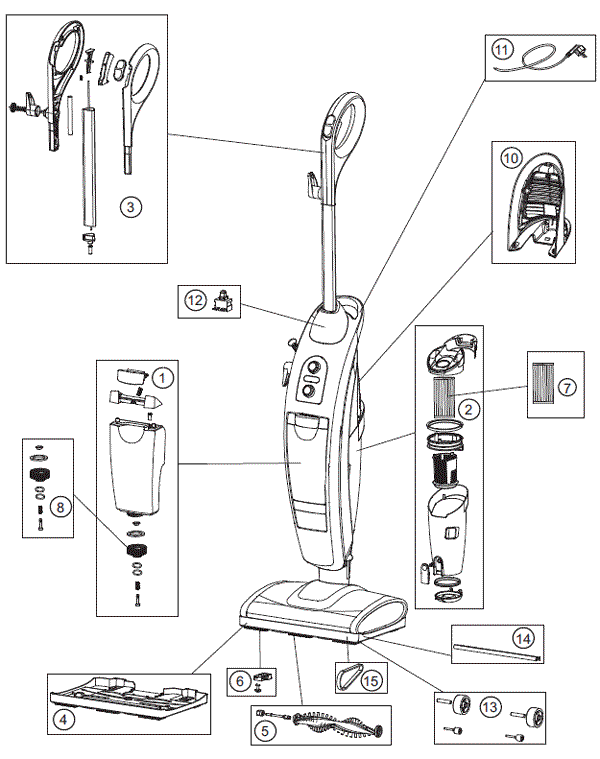 Oreck Vacuum Cleaner Parts Diagram : 34 Wiring Diagram