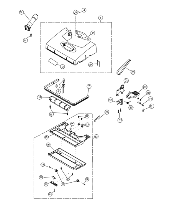 Riccar R200 Parts & Vacuum Repair Diagrams