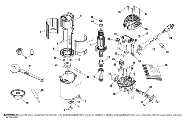 Ridgid R29001 Router Parts and Accessories- PartsWarehouse