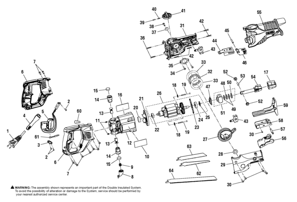black and decker reciprocating saw wiring diagram for