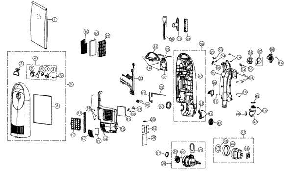 Simplicity SCRP.4 Synchrony Vacuum Parts