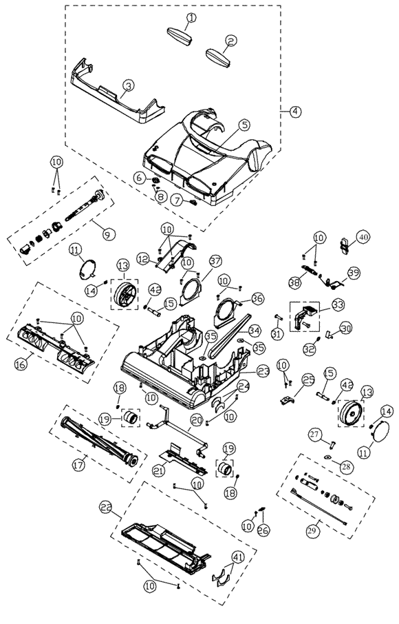 Simplicity X9.7 Synergy Vacuum Parts