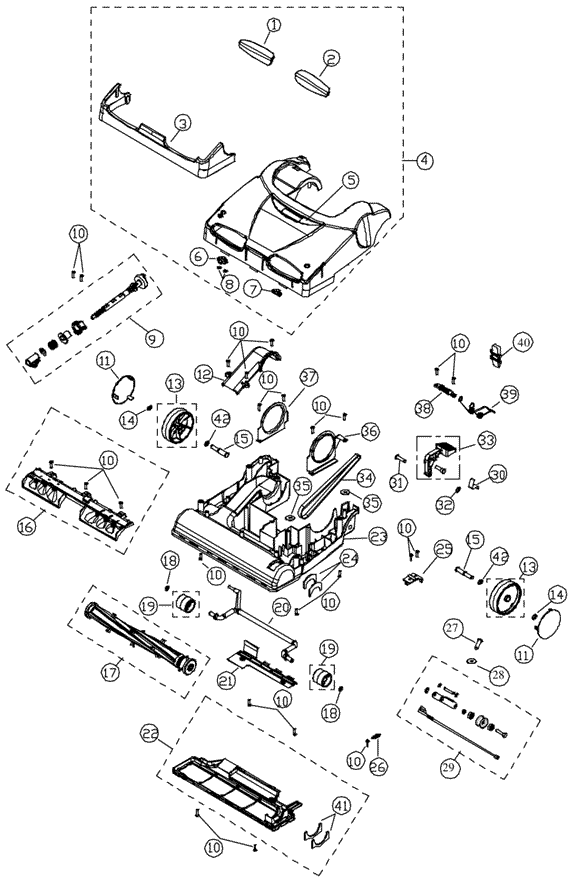 Simplicity X9.8 Synergy Vacuum Parts