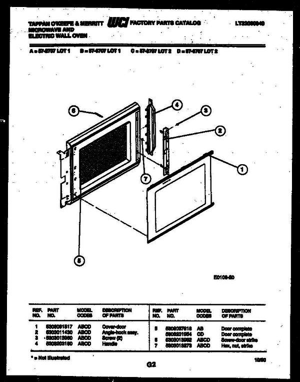 Tappan 57-2707-10-01 Microwave/Electric Wall Oven Combo