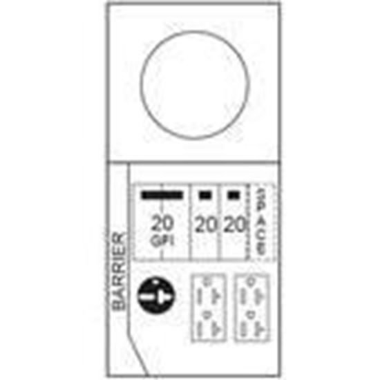 Midwest M038CB1033 100A, 1P, 120/240V, Metered Temporary