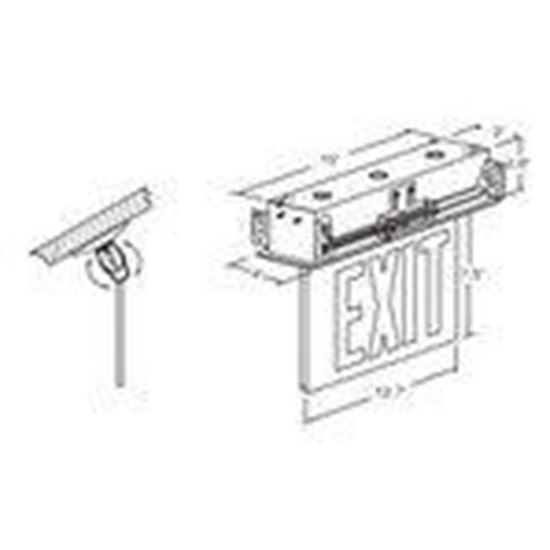 Hubbell-Dual-Lite CELR1GNE Emergency Exit Sign, Single
