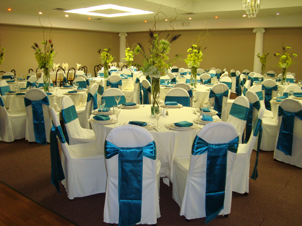teal chair covers best ergonomic desk chairs party decor offers for every event and table white satin ribbon wedding linens