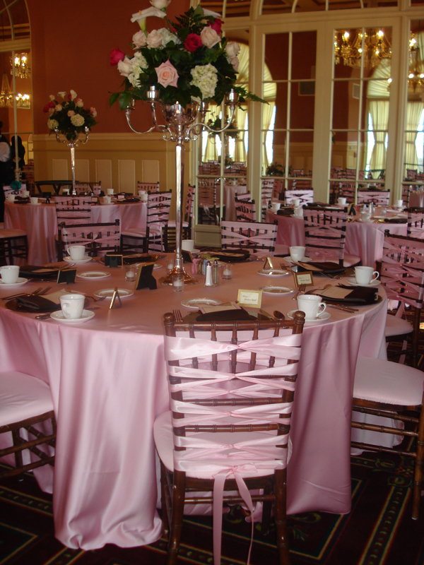 chair covers for parties solid wood kitchen chairs party decor offers every event pink ribbon