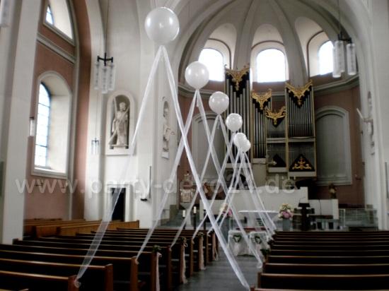 Hochzeitsdeko fr die Kirche  Geburt Deko Taufe  Kirchendeko