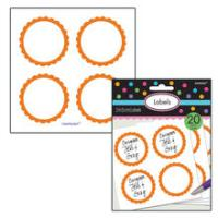 SALE Sticker Candy rund, orange, Ø 5,1 cm, 20 Stk.