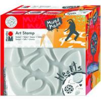 Marabu Art Stamp Stempel, 16cm, Hearts