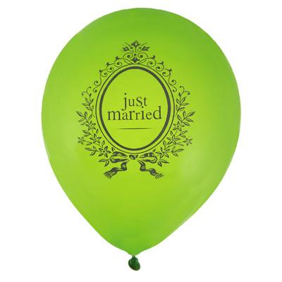 Hochzeit Luftballons Just Married hellgrn Hochzeitsdeko